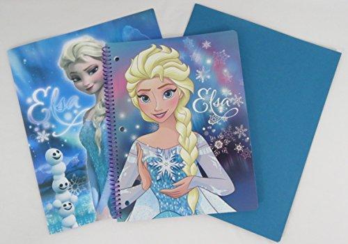 [Disney Frozen Notebook with a Portfolio Folder and a Blue Staples Folder (Elsa)] (Costume Design Carol)