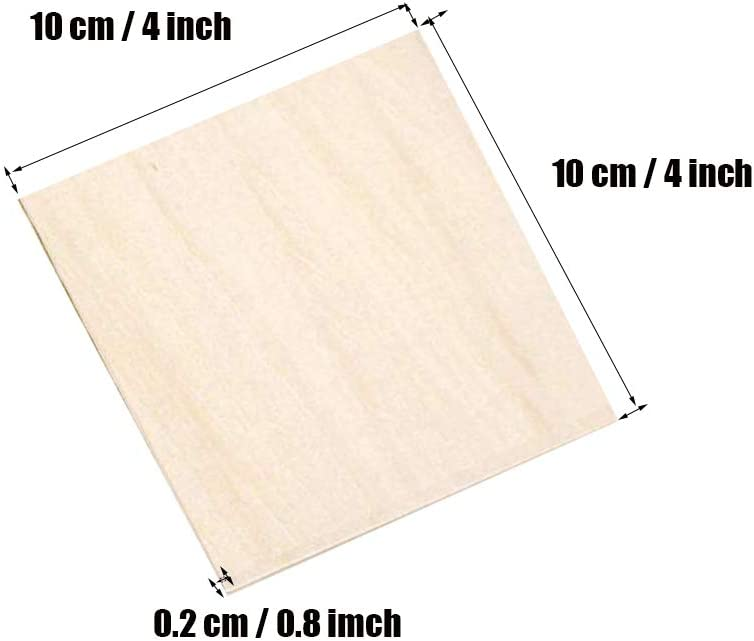 ZXUEZHENG 3Pcs 200x200x1.5mm Squares Unfinished Unpainted Basswood Plywood Thin Sheets for Craft DIY Hand-Made Project Mini House Building Architectural Model