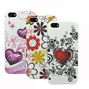 zkiosk® 4pcs Conjunto Apple iPhone 5 / 5S silicona protectora celular funda Funda de bolsillo
