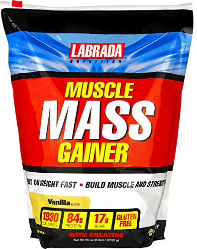 Labrada Nutrition Muscle Mass Gainer, Vanilla, 6 Pound