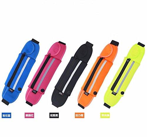 Mit Gürtel, Taille - Tasche, Reißverschluss, Hand - Handy, Sport, Wasserdichte Tasche.