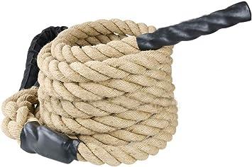 Lisaion Cuerda de yute natural para entrenamiento de fuerza ...