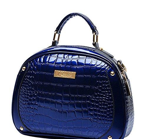 N amp; Womens Leather Pu A blu Pattern Maniglia Snake aw5Hqqd