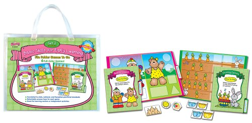 Language Arts File Folder Games (D.J. Inkers Basic Skills for Early Learning Set 2 File Folder Games to Go Educational Board Game)
