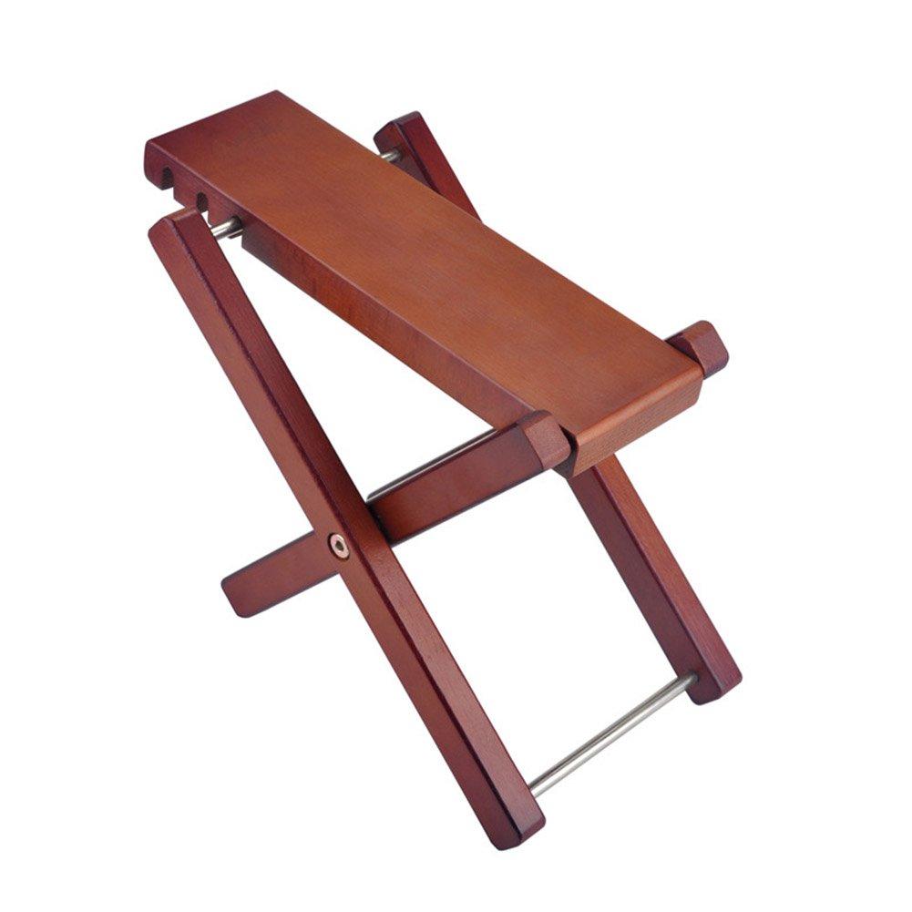 ELEOPTION Professional Guitar Foot Stool Foot Rest With 3 Adjustable Handicraft Antiskid Folding Wood Footstool Pedal (Style B)