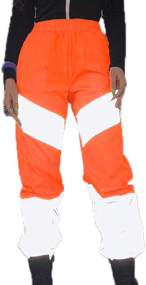Mujer Pantalones Cargo De Costura Reflectante Pantalones Deportivos De Baile Hip Hop Reflectantes Para Mujer Ropa Lekabobgrill Com