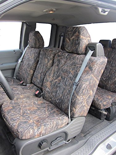20 Front Split Seat - Durafit Seat Covers, FD9-CL-C-Ford F150 XLT Front and Back Seat Set of Seat Covers in Conceal Camo Endura. Front 40/20/40 Split Seat with Integrated Seatbelts. Rear 60/40 Split Seat