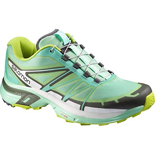 Salomon Women's Wings Pro 2, Lucite Bubble Blue/Gecko Green, 10