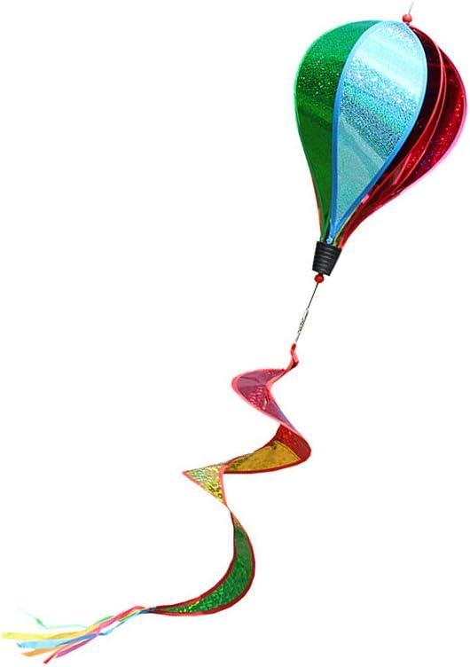 Ruiting Moulin /à Vent Montgolfi/ère,Ballon /à Air Chaud Girouette Ballon Hot Air Spinner /à Vent Ballon /à Air Chaud A