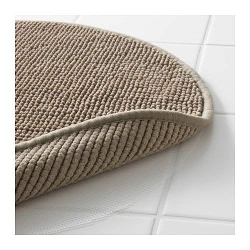 (Ikea Beige Tan Supersoft Bath Shower Mat Rug Bathtub Bathroom Floor Round)