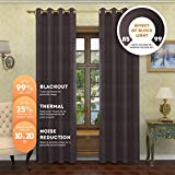Cheap Lana – Premium Thermal Insulated Blackout Curtain – Luxury Solid Draperies – Advanced Insulation Technology – Blocks 99% of Sunlight – Perfect for Any Room (38″W x 96″L – Two Panels, Charcoal)