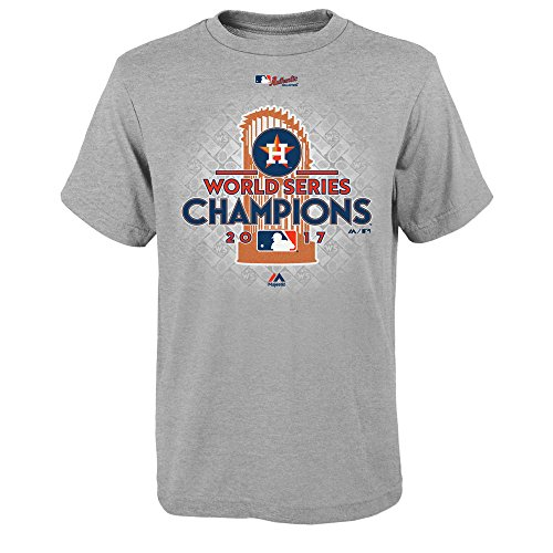 Majestic Houston Astros Grey Youth 2017 World Series Champions Locker Room T-Shirt Large 14-16