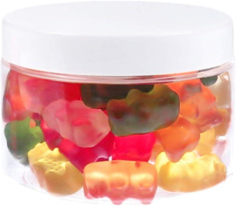 Botes de PET (150 ml, con tapa de plástico, 10 unidades), color blanco