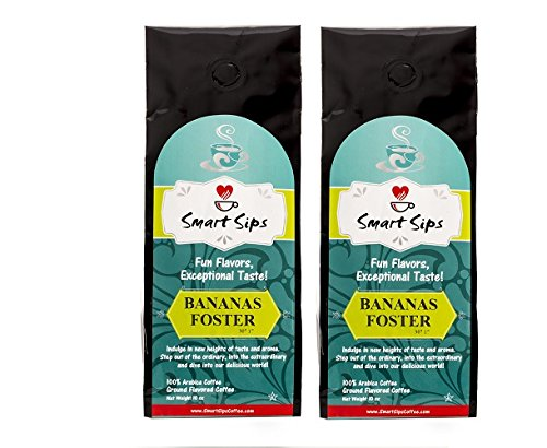 Smart Sips, Bananas Foster Ground Flavored Coffee, 20 Ounce