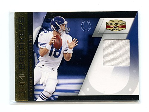 2010 Panini Gridiron Gear Game Breakers Materials #9 Peyton Manning Colts Jersey