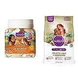Halo Bundle Liv-A-Littles Treat plus 4LB Dog Food Lamb