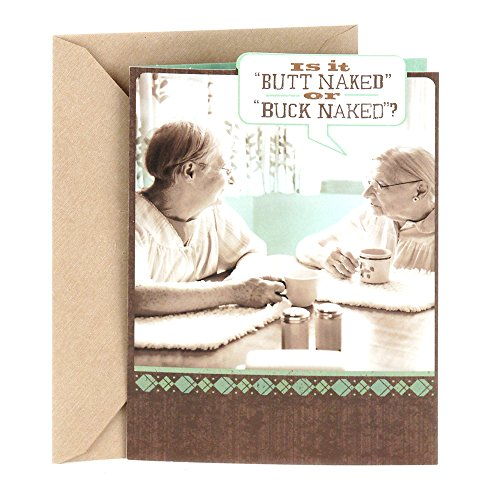Hallmark Shoebox Funny Greeting Card for Friend (Buck Naked)
