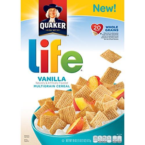 Quaker Life Original Multigrain Breakfast Cereal, Vanilla, 18 Ounce (packaging may vary) (Cereal Vanilla)