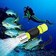 Oumers 1100 Lumen CREE XM-L2 Professional Diving Flashlight, Super Bright LED Diving Light Waterproof Underwat