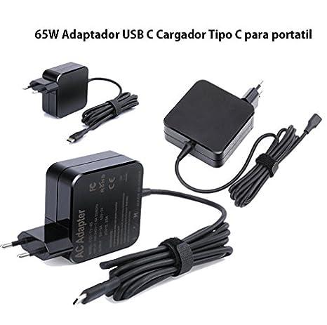 cargador para ordenador portátil 65w tipo C tipo-c para Macbook Pro 13 enchufe UE. 65w type C laptop charger: Amazon.es: Electrónica