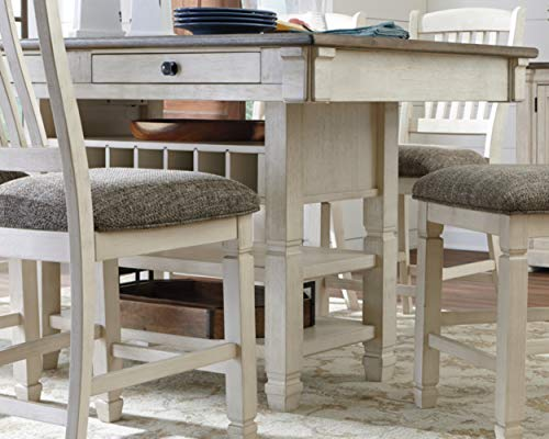 Signature Design by Ashley Bolanburg Counter Height Dining Room Table, Two-tone