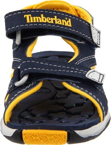 Timberland Mad River Strap, Sandalias Infantil Azul (Navy/Yellow)