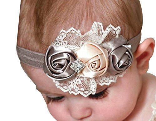 Rose Fleur de Bandeaux / Girl ROEWELL® 5 Pièces bébé / Bows Cheveux / bandes de cheveux (5 Pack)