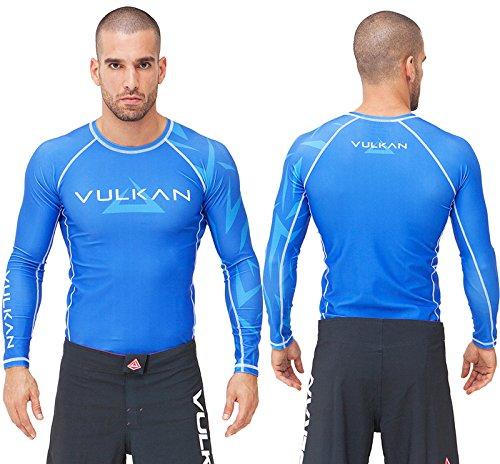 Vulkan Rash Guard - Vulkan CHALLENGE Long Sleeve NOGI Jiu Jitsu and MMA Rashguard + 30 Day Comfort Guarantee + FREE Submission & Position Videos - IBJJF Approved