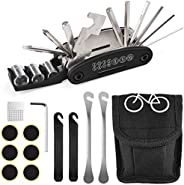 Bike Tool Kit, [Perfect Set] Diyife 16 in 1 Multi-Function Bike Repair Tool Kit Bike Maintenance Kit with 4 Ty