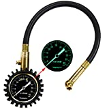 Vepagoo Pro Tire Pressure Gauge 60 PSI Glow-in-the-Dark Dial Accurate Pressure Gauge for Your Car, Truck, Motorcycle and Bike