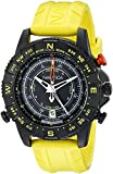Nautica Men's NAD21000G NSR 103 Black Stainless Steel Watch with Textured Yellow Band