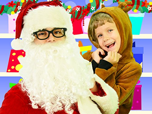Sing Jingle Bells Song with Santa Clause and Deer