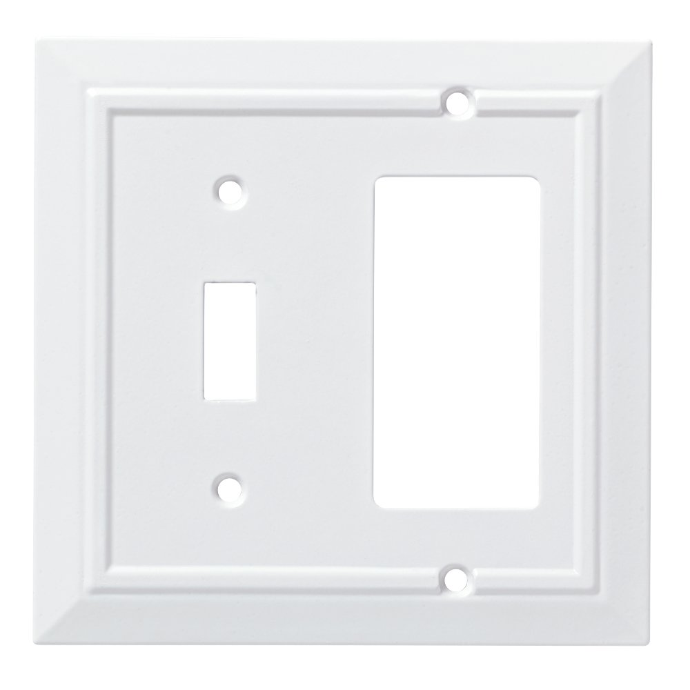 Franklin Brass W35246-PW-C Classic Architecture Switch/Decorator Wall Plate/Switch Plate/Cover, White