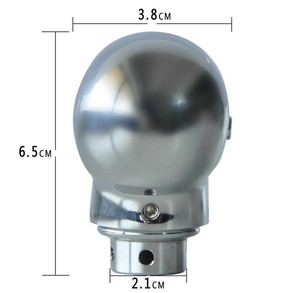 SMKJ Universal Auto Schaltknauf totenkopf Rot LED Schaltkn/üppel Aluminium Shifter Knob f/ür most Manuelles oder automatisches Getriebe Ohne RGA