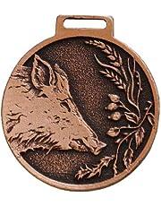 GTK - Medalla Decorativa de Cuernos y trofeos de Madera de cría de jabalí