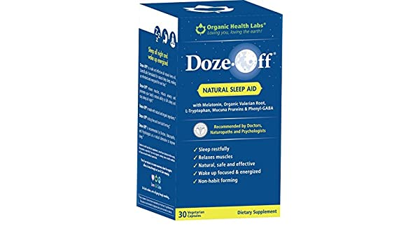 Amazon.com: Doze-Off Natural Sleep Aid- 30 Veggie Capsules - Sleep like you used to! by Organic Health Labs: Health & Personal Care