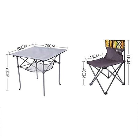 Mesas y sillas plegables Mesa de jardín al aire libre portable de ...