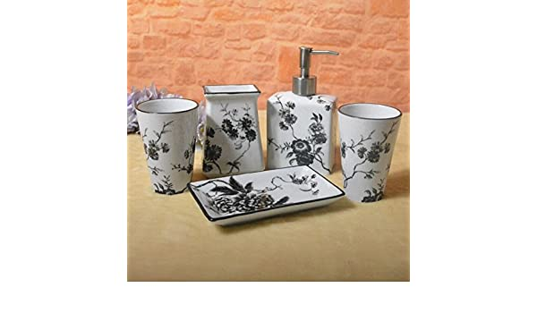 GTVERNH-El baño lavar los trajes cerámica doméstica cinco juegos baño cepillo de dientes cepillo de dientes titular pintura pintado traje loción botella: ...