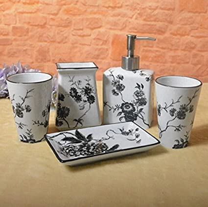 GTVERNH-El baño lavar los trajes cerámica doméstica cinco juegos baño cepillo de dientes cepillo