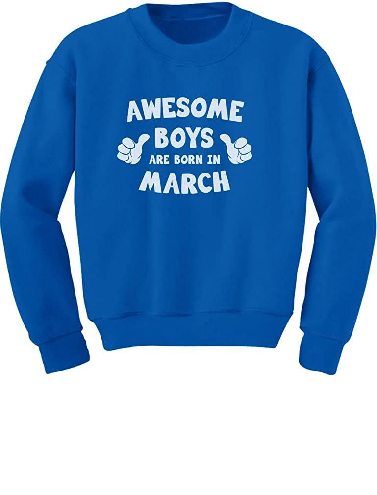 TeeStars Awesome Boys are Born in March Birthday Gift Toddler//Kids Sweatshirts