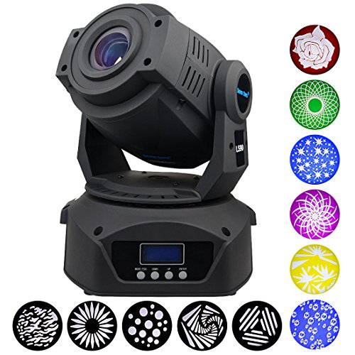 Moving Head Spot Beam Light, 150W DMX512 DJ Stage Lighting Sound Activated,Master-slave, Auto Running for Stage,Wedding,Concert,Party,Bar,Disco and More Performance Places