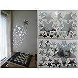 52 Espejo Estrella pegatinas de pared en 2 hojas de A4