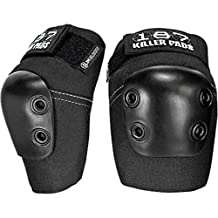 187 Killer Pads Slim Black Medium Elbow Pads by 187 Killer Pads