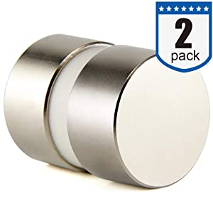 40x20mm Super Strong Neodymium Disc Magnet, N52 Permanent Magnet Disc, The World's Strongest & Most Powerful Rare Earth Magnets - Two Piece