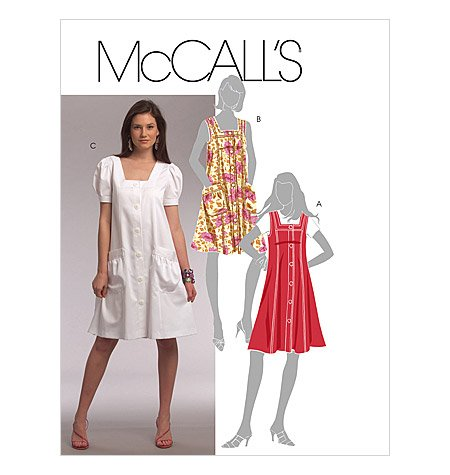 MCCALLS PATTERN M5656 MISSES/MISS PETITE JUMPER AND DRESSES SIZE F5 16-24