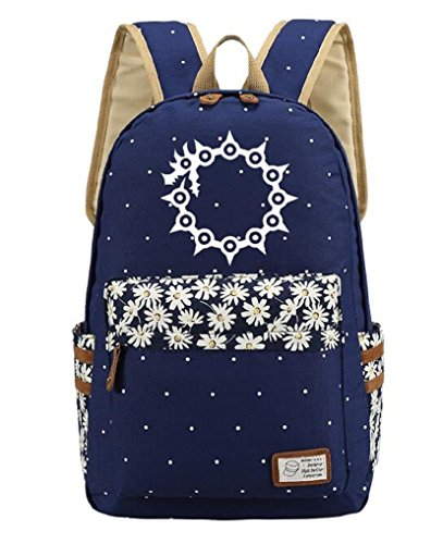 YOYOSHome Luminous Anime The Seven Deadly Sins Cosplay College Bag Daypack Bookbag Backpack School Bag (Dark (Seven Deadly Sins Costumes For Girls)