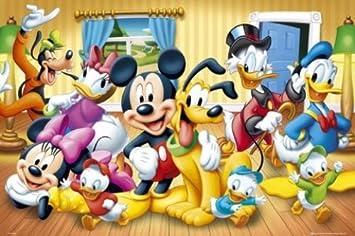 Amazoncom Disney Characters 24x36 Poster Art Print Mickey Minnie