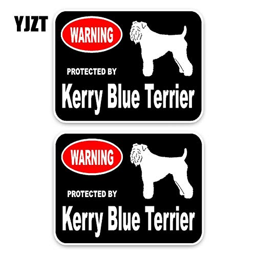 1511.4CM 2X Kerry Blue Terrier Dog Hipster Cartoon Animal PVC Car Sticker C1-4564 ()