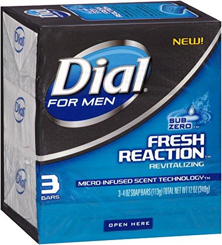 Price comparison product image Dial For Men Fresh Reaction Bar Soap, Sub Zero, 3 Count