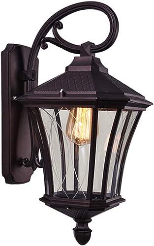 LITFAD Industrial Vintage Lantern Wall Sconce Light Metal Security Waterproof Wall Lighting LED Outdoor Wall Lamp